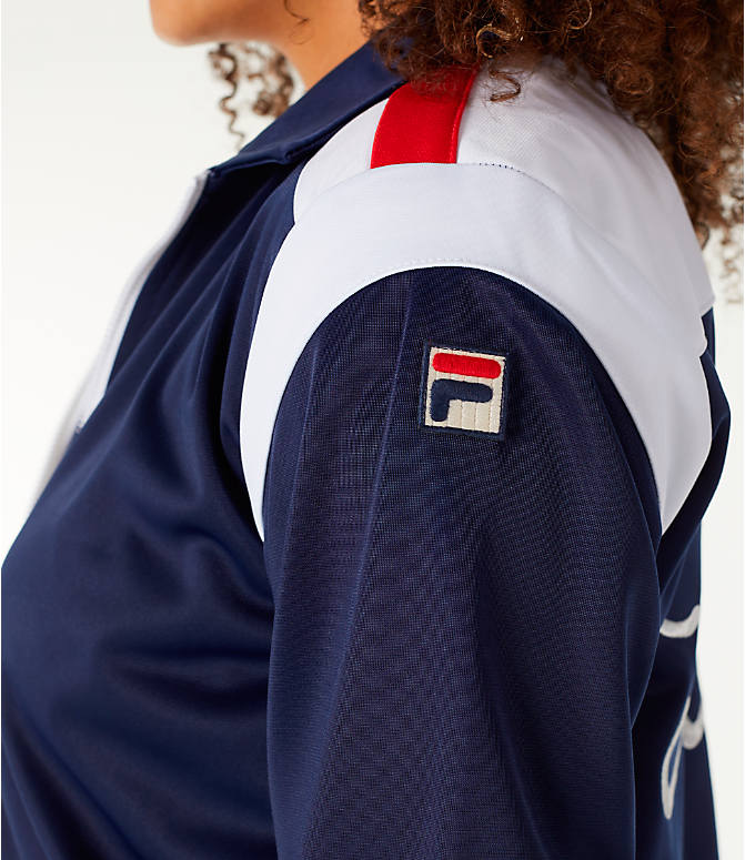 Detail 2 view of Women's Fila Lizzie Jacket in Navy/White