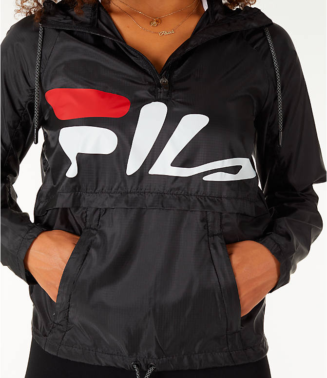 Detail 1 view of Women's Fila Chloe Wind Jacket in Black