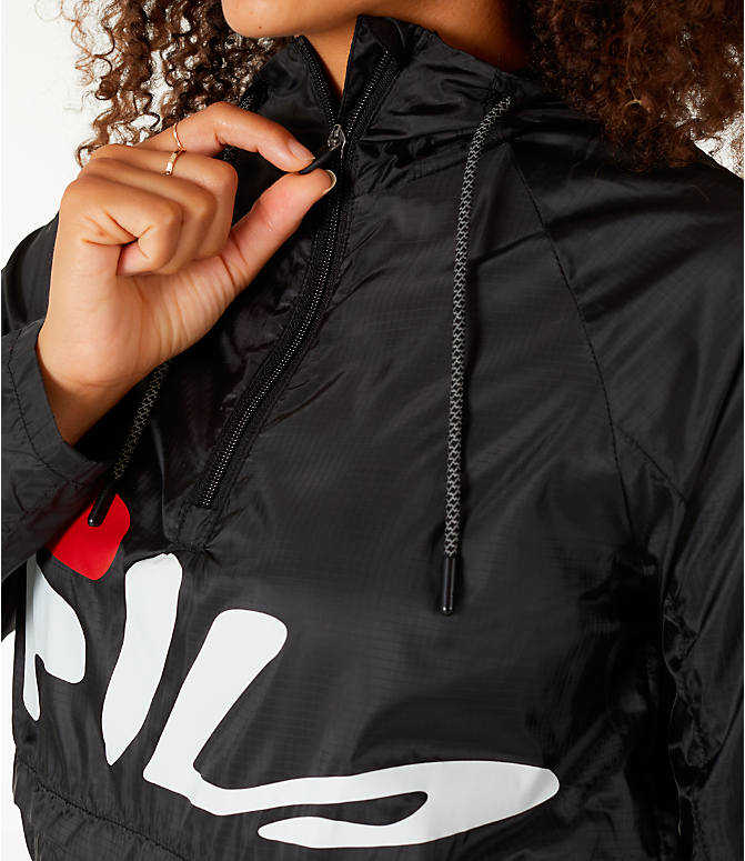 Detail 2 view of Women's Fila Chloe Wind Jacket in Black