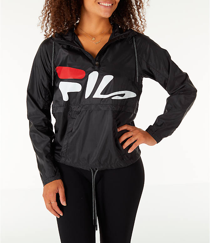 Front view of Women's Fila Chloe Wind Jacket in Black
