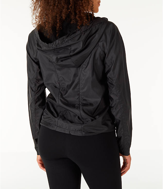 Back Right view of Women's Fila Chloe Wind Jacket in Black