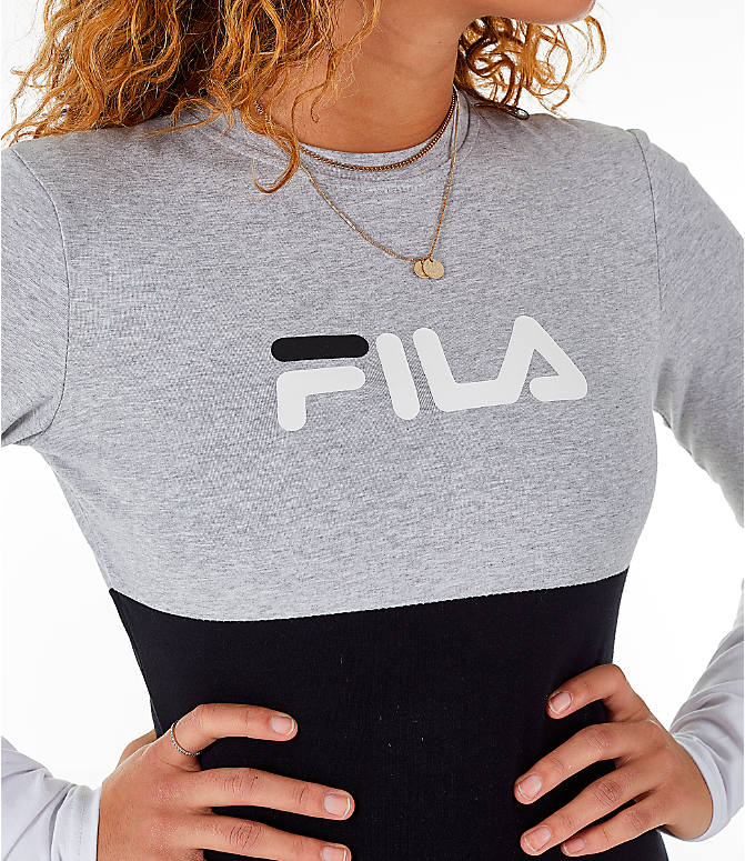 Detail 1 view of Women's Fila Elena Bodysuit in Black/Grey/White