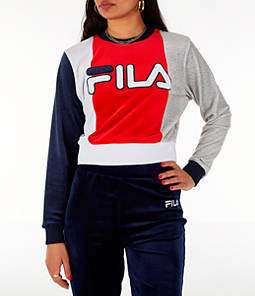 Women's Fila Antonietta Crop Velour Sweatshirt