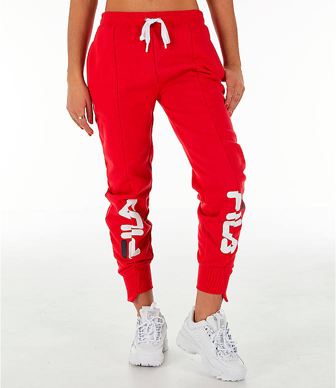 Front view of Women s Fila Alessia Reconstructed Fleece Jogger Sweatpants 18444968d8