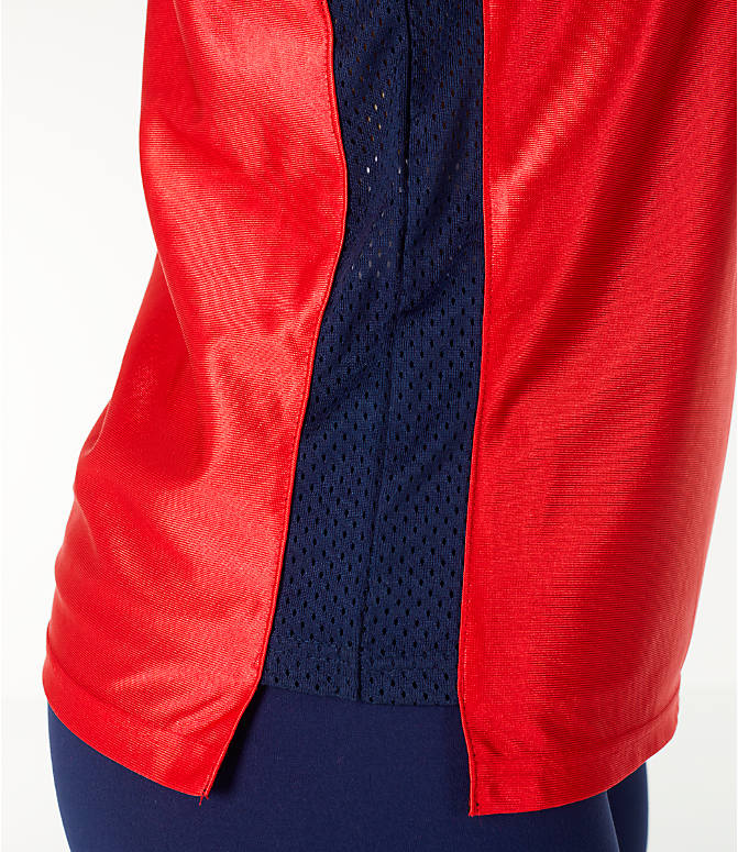 Detail 2 view of Women's Fila Stefania Tank in Red/Navy