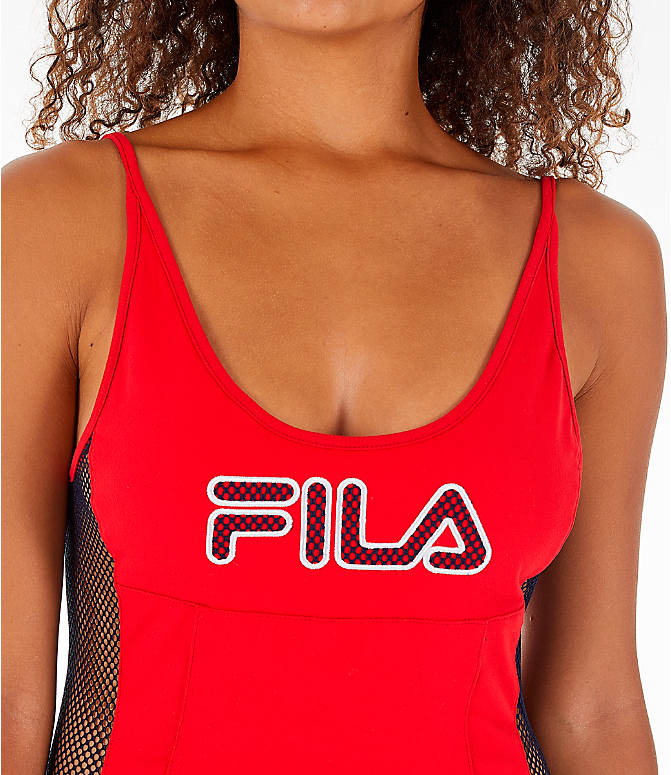 Detail 1 view of Women's Fila Nadia Bodysuit in Red/Black