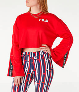 Women's Fila Aurora Flared Crop Sweatshirt
