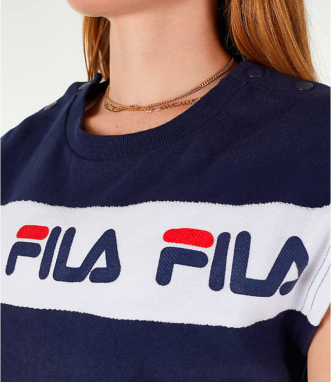Detail 2 view of Women's Fila Costanza Romper in Navy