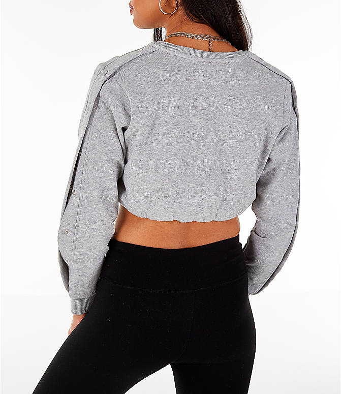 Back Left view of Women's Fila Charlotte Cropped Crew Sweatshirt