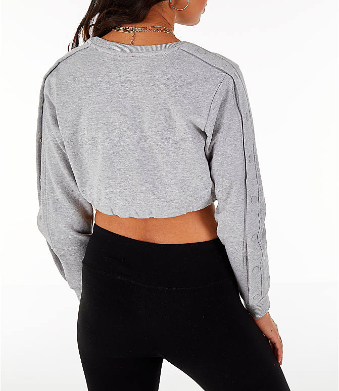 Back Right view of Women's Fila Charlotte Cropped Crew Sweatshirt