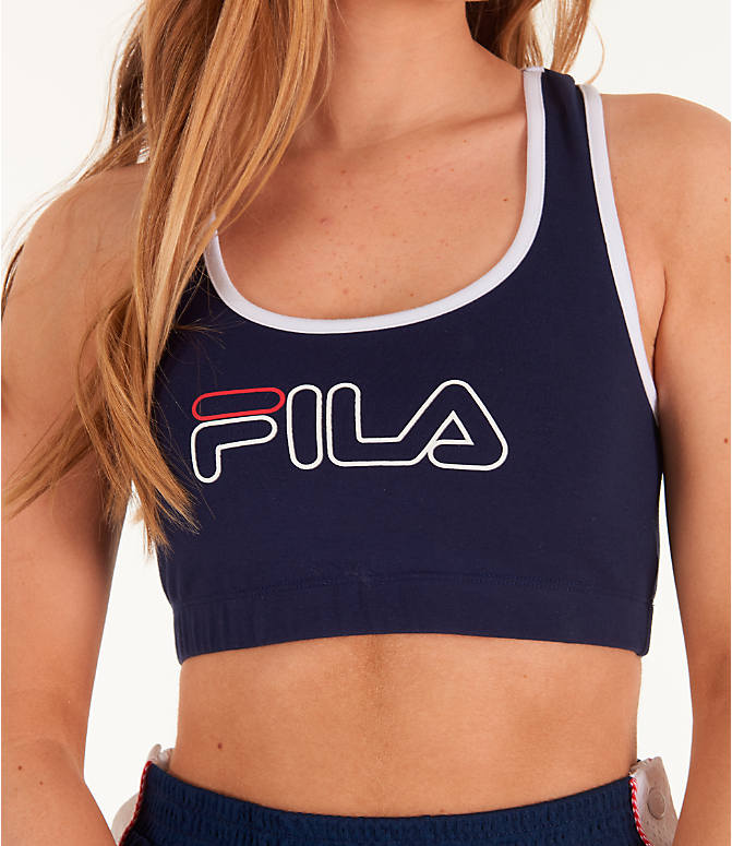 Detail 1 view of Women's Fila Rebecca Sports Bra in Navy