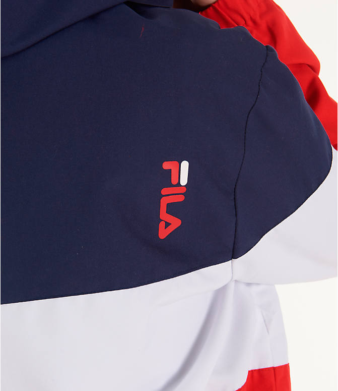 Detail 2 view of Women's Fila Luella Woven Wind Jacket in Navy/White