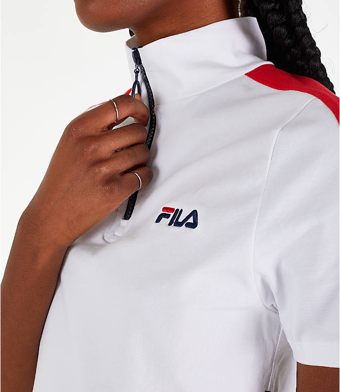 Detail 1 view of Women's Fila Lucrecia Dress in White/Red