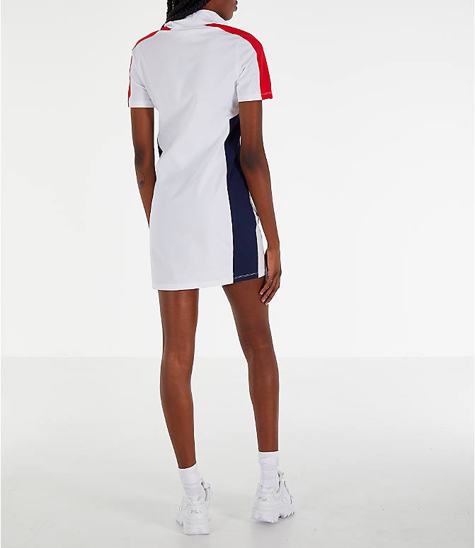 Back Right view of Women's Fila Lucrecia Dress in White/Red