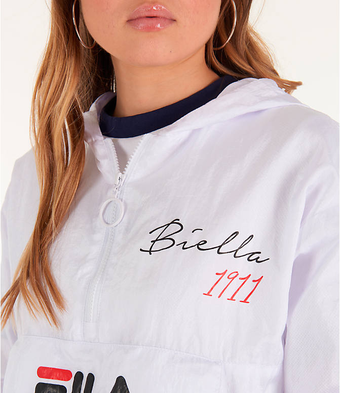 Detail 1 view of Women's Fila Jana Half-Zip Jacket in White