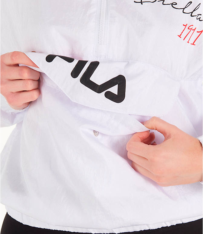 Detail 2 view of Women's Fila Jana Half-Zip Jacket in White