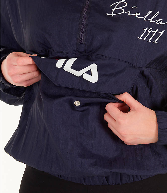 Detail 2 view of Women's Fila Jana Half-Zip Jacket in Navy