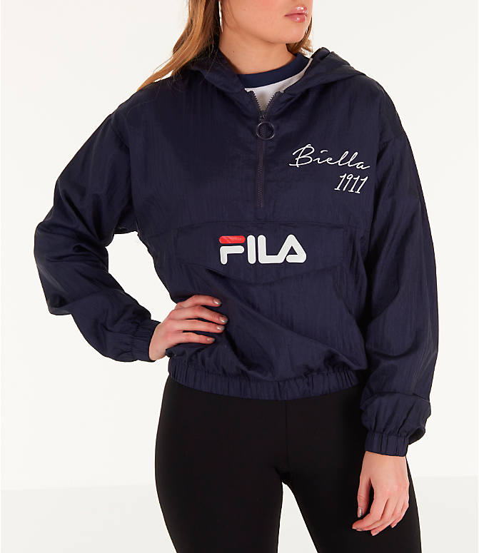 Front view of Women's Fila Jana Half-Zip Jacket in Navy