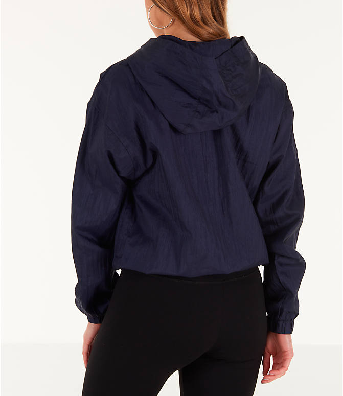 Back Left view of Women's Fila Jana Half-Zip Jacket in Navy