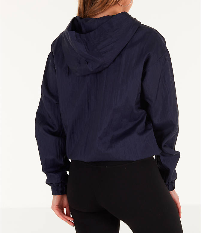Back Right view of Women's Fila Jana Half-Zip Jacket in Navy