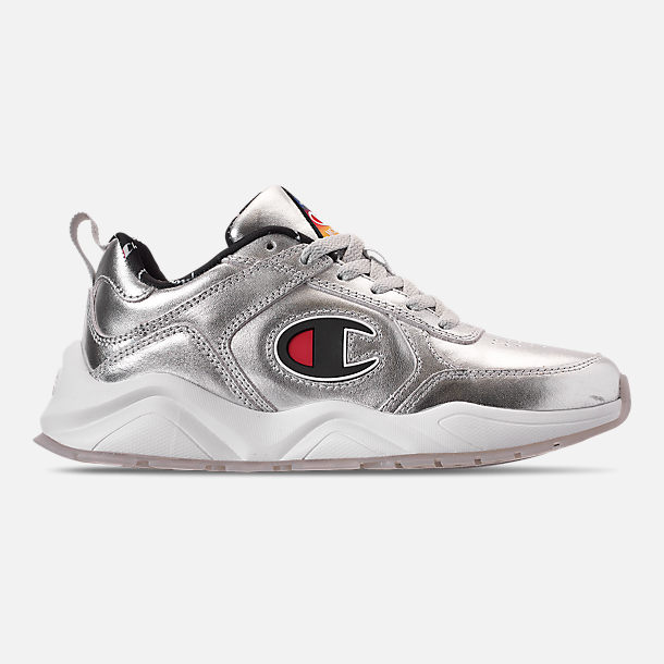 ee0d08bab13a7 Right view of Big Kids  Champion 93Eighteen Casual Shoes in Silver
