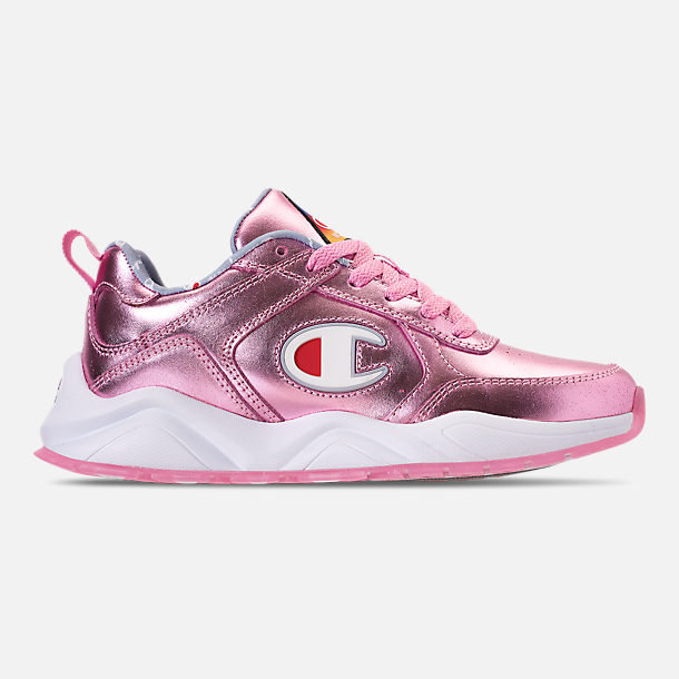 Right view of Girls' Big Kids' Champion 93Eighteen Metallic Casual Shoes in Pink