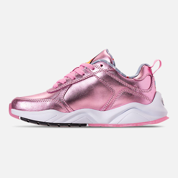 Left view of Girls' Big Kids' Champion 93Eighteen Metallic Casual Shoes in Pink