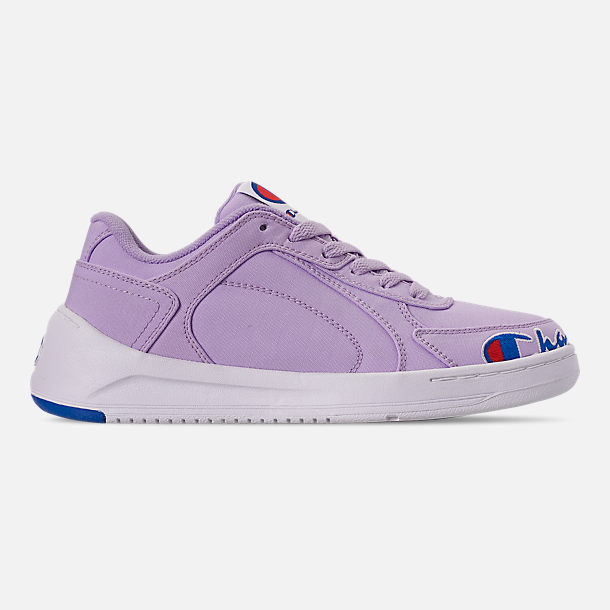 Right view of Women's Champion Super C Court Low Casual Shoes in Violet