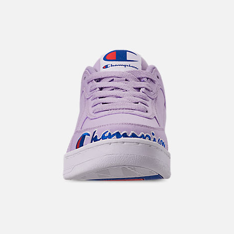 Front view of Women's Champion Super C Court Low Casual Shoes in Violet
