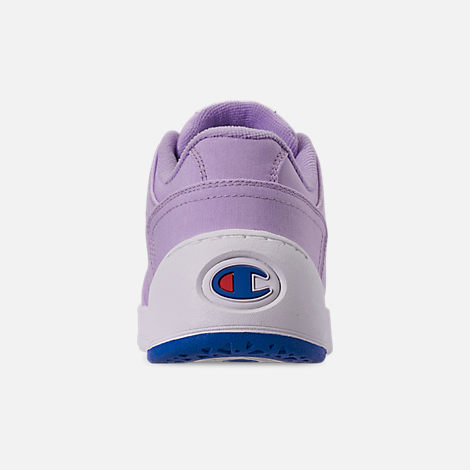 Back view of Women's Champion Super C Court Low Casual Shoes in Violet