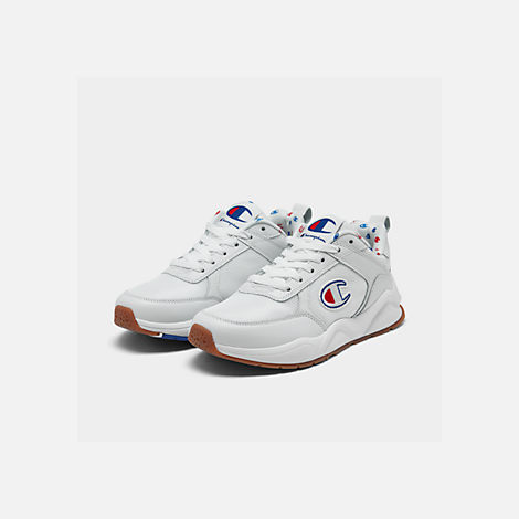 Three Quarter view of Women's Champion 93Eighteen Classic Casual Shoes in White
