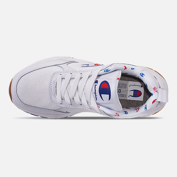 Top view of Women's Champion 93Eighteen Classic Casual Shoes in White
