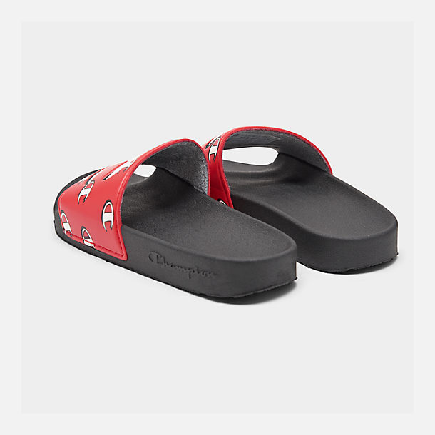 f825dccf390b Left view of Boys  Big Kids  Champion IPO Repeat C Slide Sandals in Red