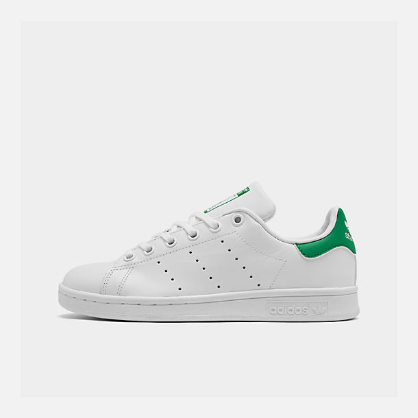 Right view of Boys' Grade School adidas Originals Stan Smith Casual Shoes  in White/