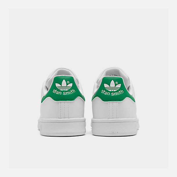 Left view of Boys' Grade School adidas Originals Stan Smith Casual Shoes in White/Fairway