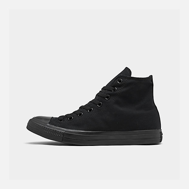 Right view of Unisex Converse Chuck Taylor Mono Casual Shoes in Black