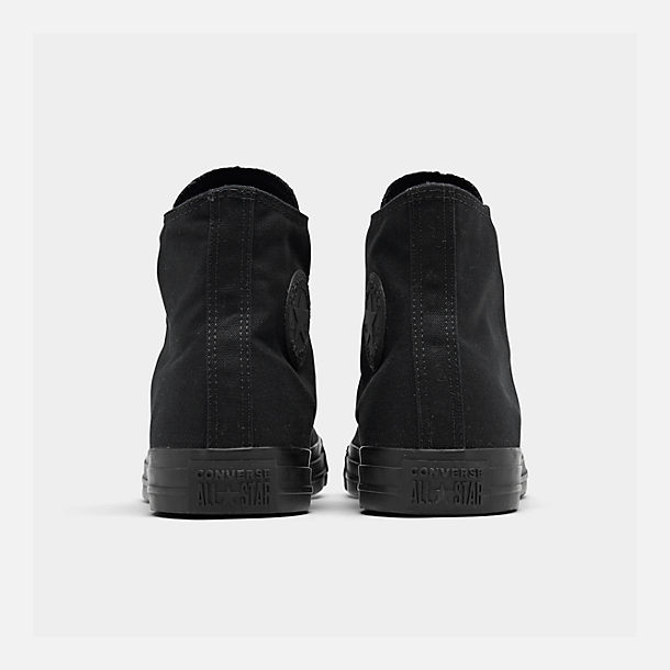 Left view of Unisex Converse Chuck Taylor Mono Casual Shoes in Black