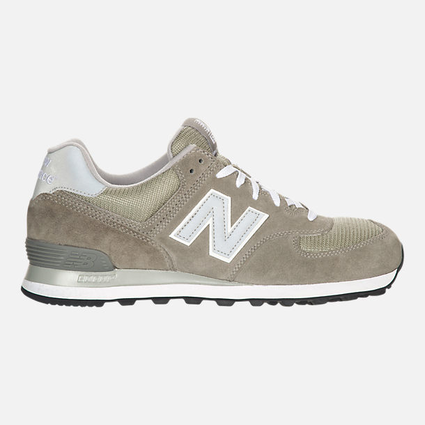 Right view of Men's New Balance 574 Suede Casual Running Shoes in Grey
