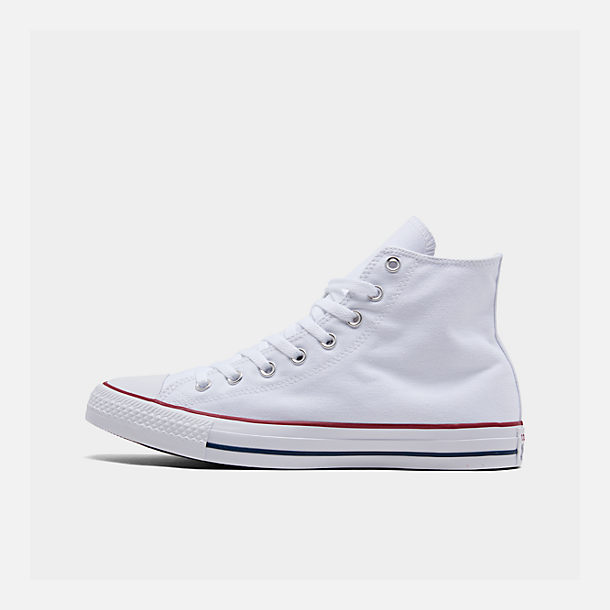 Right view of Unisex Converse Chuck Taylor Hi Top Casual Shoes in Optical White