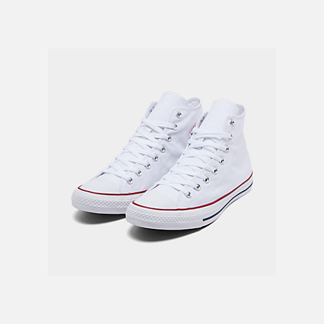 Men's Converse Unisex Chuck Taylor Hi Top Casual Shoes Optical White