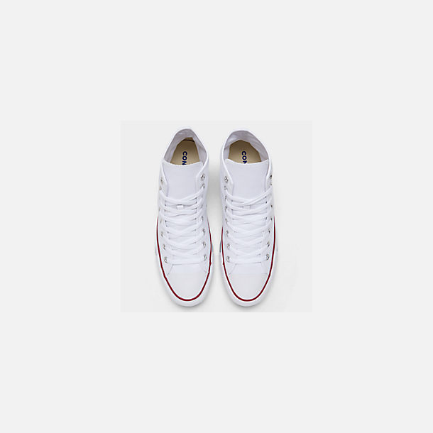 Back view of Unisex Converse Chuck Taylor Hi Top Casual Shoes in Optical White