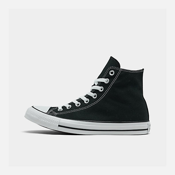 Right view of Unisex Converse Chuck Taylor Hi Top Casual Shoes in Black