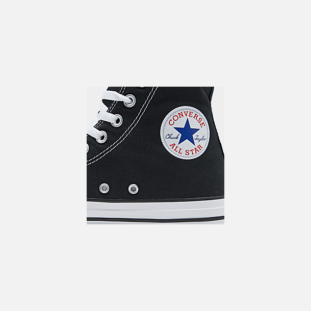 Front view of Unisex Converse Chuck Taylor Hi Top Casual Shoes in Black