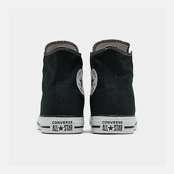 Left view of Unisex Converse Chuck Taylor Hi Top Casual Shoes in Black