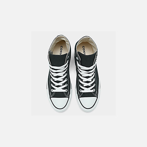 Back view of Unisex Converse Chuck Taylor Hi Top Casual Shoes in Black