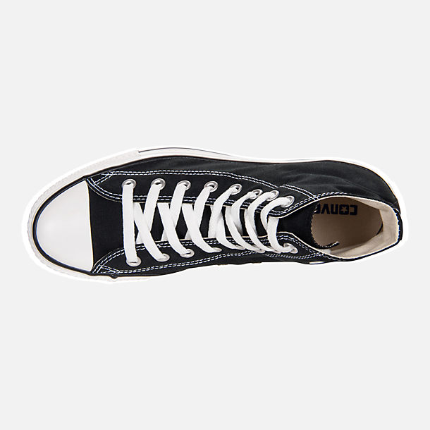 Top view of Unisex Converse Chuck Taylor Hi Top Casual Shoes in Black