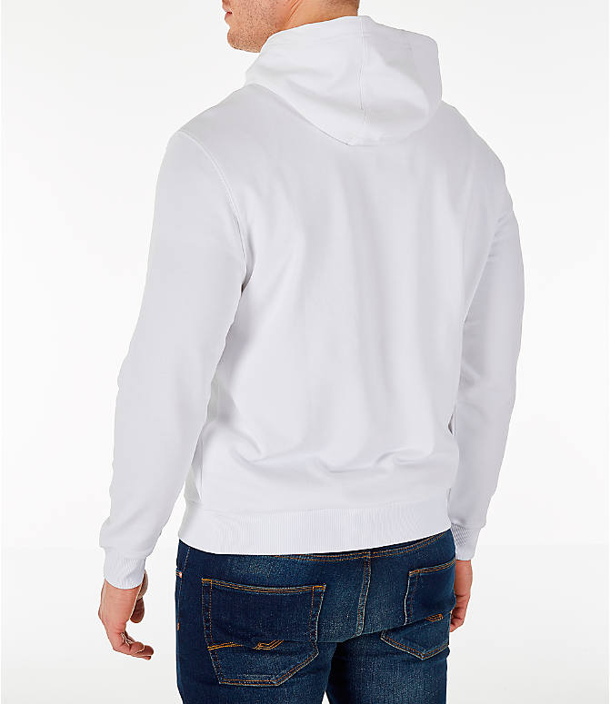 Back Left view of Men's Fila Milano FW Hoodie in White