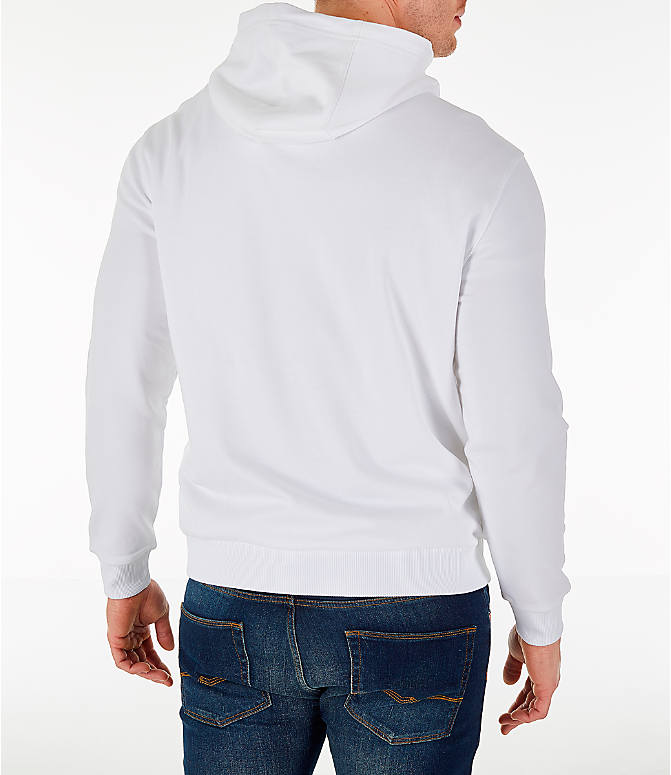 Back Right view of Men's Fila Milano FW Hoodie in White