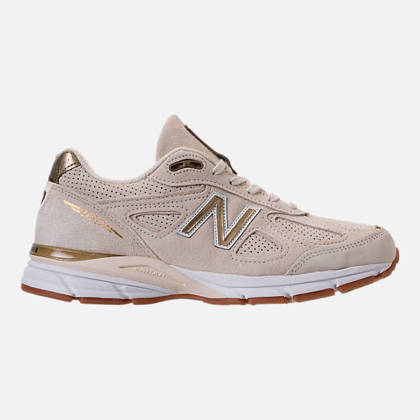 Right view of Men's New Balance 990 v4 Running Shoes in Angora/Angora