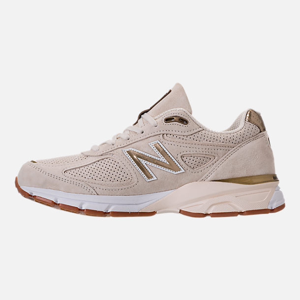Left view of Men's New Balance 990 v4 Running Shoes in Angora/Angora